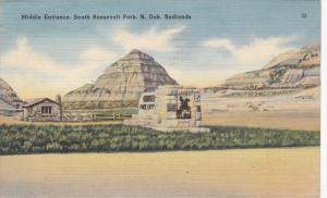 BADLANDS, North Dakota; Middle Entrance South Roosevelt Park, PU-1949