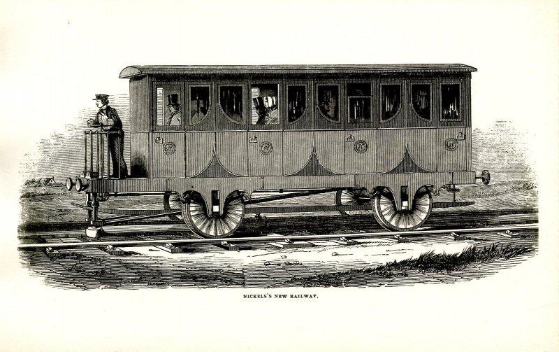Nickels's New Railway.  *RPPC