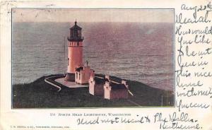 North Head Lighthouse Washington 1906 postcard