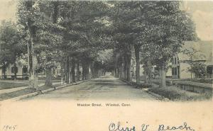 American News C-1910 Meadow Street Winsted Connecticut postcard 1805