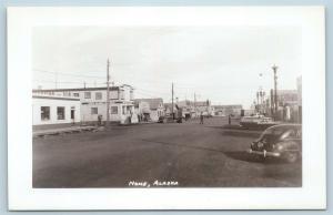 Postcard AK Nome Street View Wien Alaskan Airlines c1940s RPPC Real Photo Q12