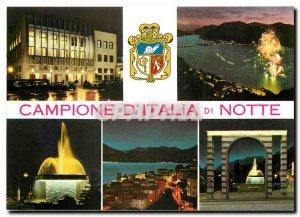 Postcard Modern Campione di Italia di Notte