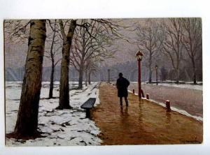 224044 RUSSIA Germashev Blagovest March Lenz #237 old postcard
