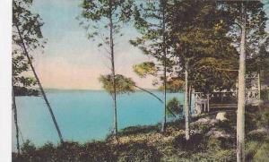 Maine monmouth Cobbosee Colony View Up Cobbosseecontee Lake Albertype