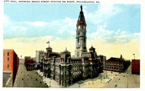 PA - Philadelphia. City Hall, Broad Street Station