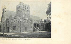 Vintage Postcard St. Paul's Episcopal Church Newport Arkansas AR Jackson County