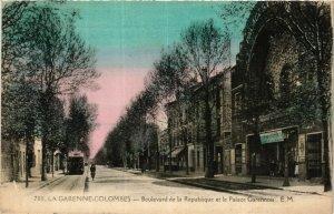 CPA LA GARENNE Colombes-Boulevard de la République-Palace Garennois (412981)