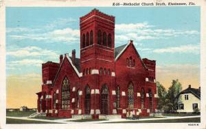 Kissimmee Florida~Methodist Church South~Girls on Sidewalk~House Nextdoor~1940s