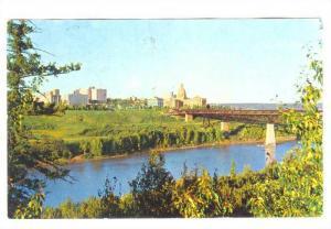 View of Alberta Legislative Building and city skyline, Edmonton, Alberta, Can...
