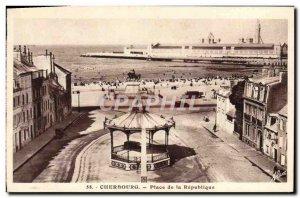 Old Postcard Cherbourg Place de la Republique Napoleon 1st