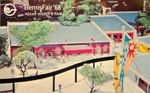 San Antonio Texas~HemisFair 68~Model of Los Plazas del Mundo~1968 Postcard
