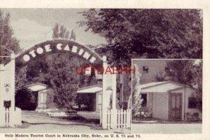 OTOE CABINS, ONLY MODERN TOURIST COURT IN NEBRASKA CITY, NE. on US 75 and 73