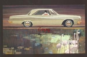 1964 DODGE POLARA MILLBURN NEW JERSEY CAR DEALER ADVERTISING POSTCARD '64 MOPAR