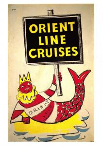 Postcard Orient Line Cruises - Reproduction Advertising Card F46