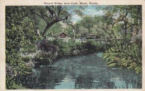 MIAMI, Florida, PU-1905; Natural Bridge, Arch Creek