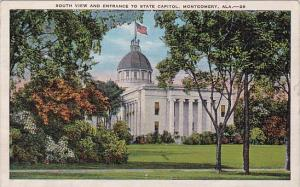 South View And Entrance To State Capitol Montgomery Alabama