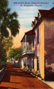 Florida St Augustine Old Aviles Street Spanish Quarter