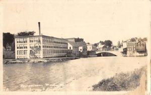 Dover Foxcroft Maine American Wool Mill Real Photo Antique Postcard K431881