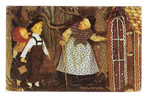 Hansel and Gretel Phoebes Little Wax Works Pocono Mts PA Museum Postcard