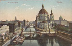 Dom Mit Spree, Bridge, Cargo Boats, BERLIN, Germany, 1900-1910s