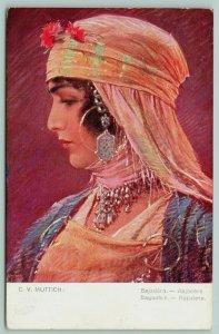 CV Muttich~Bayadère~Hindu Dancing Girl~Southern Indian Temple~Jewelry~#1135