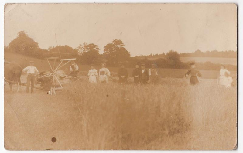 Social History; Farming Labourers With Reaper & Binder RP PPC, c 1910's, Unused
