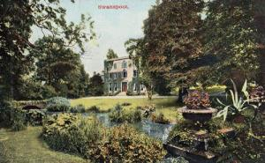 Swanspool Northamptonshire Mansion Grounds Old Postcard
