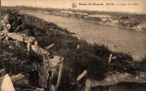 Belgium Ruines de Dixmude 1914-1918 Le boyau de le Mort WW1 02.73