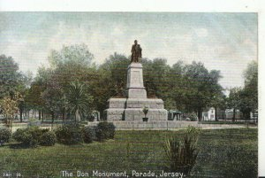 Channel Islands Postcard - The Don Monument - Parade - Jersey - Ref 16300A