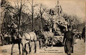 CPA PARIS Mi-Careme 1907 Char de la Tubercolose vaincue (700135)