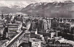 Switzerland Lausanne Le Lac et les Alpes 1951 Photo
