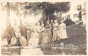 Old Vintage Shaker Post Card Group of North Family , real photo Mount Lebanon...