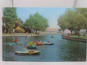Postcard Children in Paddle Boats The Lake Southchurch Park Southend on Sea 70s