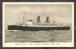 dc736 - Steamer DUCHESS OF BEDFORD 1930s. Canada. Postcard