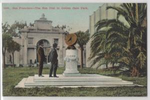 San Francisco The Sun Dial in Golden Gate Park California CA Antique Postcard