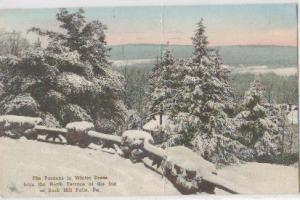 Poconos In Winter Terrace Buck Hill Falls PA 1942