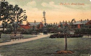 Great Crosby The Park Promenade Statue Postcard