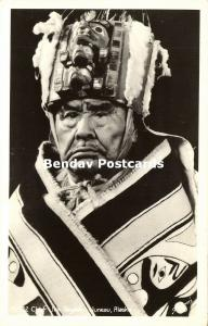 Alaska, JUNEAU, Native Eskimo Chief Jim Tagook (1940s) RPPC
