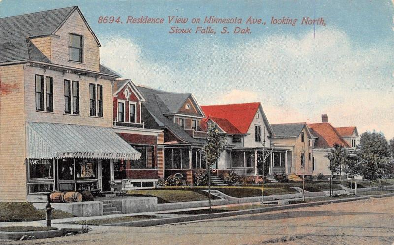 Sioux Falls South Dakota~Minnesota Avenue Homes~Peterson Fancy Groceries~1914