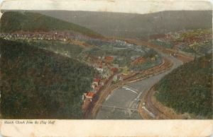 Mauch Chunk (Jim Thorpe) PA River & Village Below~View From Flag Staff~1906 pc