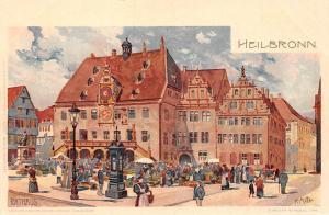 Heilbronn Rathaus Town Hall Market Place Promenade