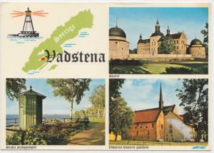 Vadstena, Sweden, multi view, 1976 used Postcard