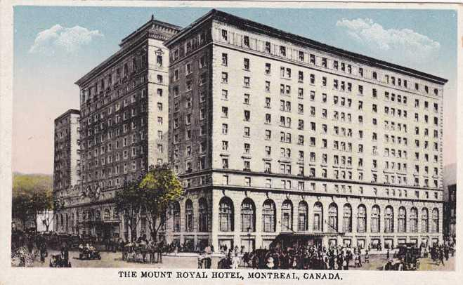 The Mount Royal Hotel Montreal Qc Quebec Canada Wb