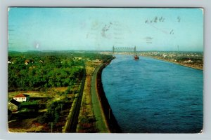 Cape Cod MA, Railroad Bridge Over Canal, Chrome Massachusetts c1961 Postcard