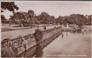 Trentham Gardens Lady Examining Boat Staffordshire Real Photo Postcard