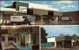 Stockton CA Parisian Laundry & Dry Cleaners Panel Vans & Store - Postcard