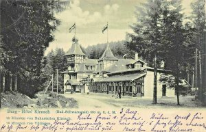 BURG GERMANY~HOTEL KIRNACH~1904 PHOTO POSTCARD
