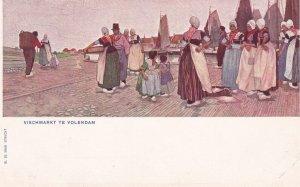 VOLENDAM, Noord-Holland, Netherlands, 1901-1907; Vischmarkt Te Volendam