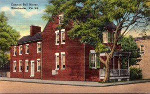 Virginia Winchester Cannon Ball House