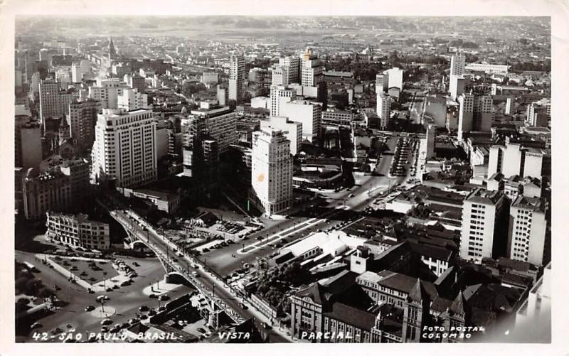 Brazil Sao Paulo Brasil Vista Parcial, cars, animated, Air View 1959
